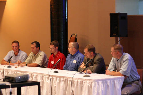 A panel was assembled to discuss various aspects of a career in railroad engineering